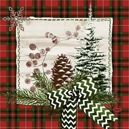 Servett 33cm 3-Lags Naturally Christmas 50st/fp