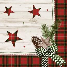 Servett 40cm Dunilin Naturally Christmas 50st/fp