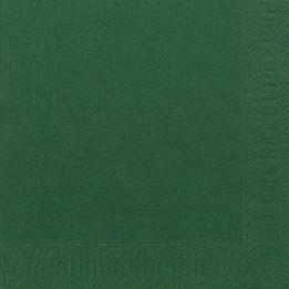 Servett 40cm 3-Lags Mörkgrön 125st/fp