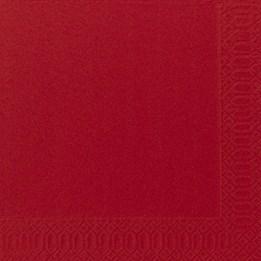 Servett 40cm 3-Lags Röd 125st/fp