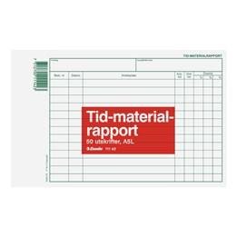 Tid-Materialrapport A5L 50 Blad