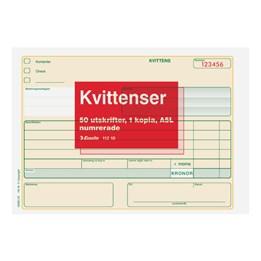 Kvittenser A5L Kopia 2x50 Blad Numrerad