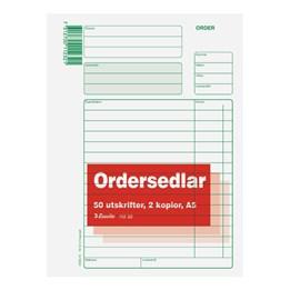 Ordersedel A5 2 Kopior 3x50 Blad