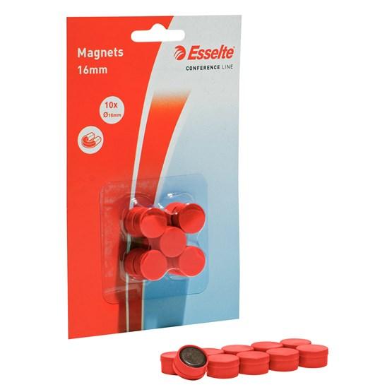 Magnet 16mm Röd Rund 10st/fp