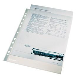 Plastficka A4 0.11mm Transp Klar Pp