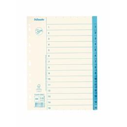 Pappersregister A4 1-15 Blå Flik