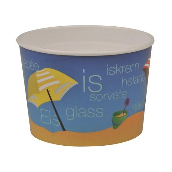 Glassbägare 200ml Papper Med Tryck 44st/fp