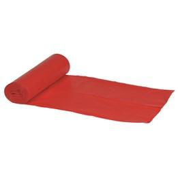 Plastsäck 120L Röd 760x1030x0.035 10/rl