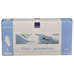 Vinylhandske Opudrad Transparent L Ftalatfri