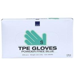 Handske TPE Puder- & Ftalatfri Blå S 200st/fp