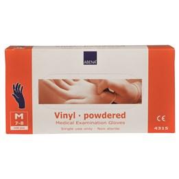 Vinylhandske Pudrad Blå 8/M 100st/fp