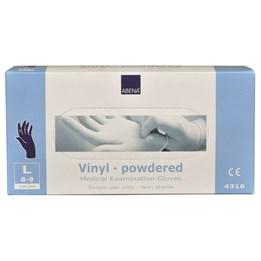 Vinylhandske Pudrad Blå 9/L 100st/fp