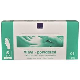Vinylhandske Pudrad Transparent S 100st/fp