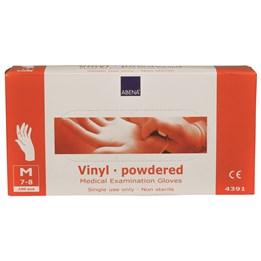 Vinylhandske Pudrad Transparent M 100st/fp