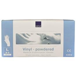 Vinylhandske Pudrad Transparent L 100st/fp