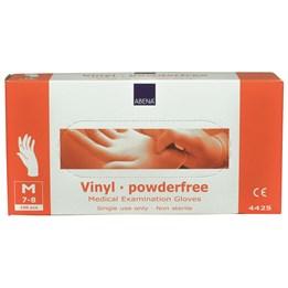 Vinylhandske Opudrad Transparent M 100st/fp