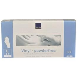 Vinylhandske Opudrad Transparent L 100st/fp