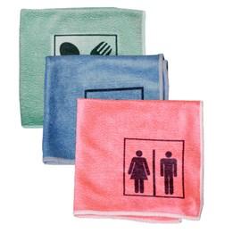 Microfiberduk T2 symbol WC/HUS/KÖK 3-Pack