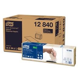 Dispenserservett Tork N4 33x22cm Natur 1-Lags 1125st/fp