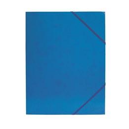 Gummibandsmapp A4 Kartong 3-Klaff Blå
