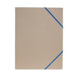 Gummibandsmapp A4 Kartong 3-Klaff Natur Blå