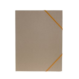 Gummibandsmapp A4 Kartong 3-Klaff Natur Orange
