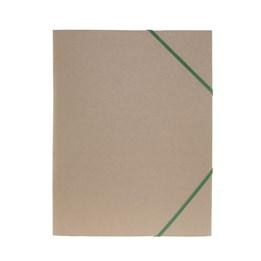 Gummibandsmapp A4 Kartong 3-Klaff Natur Grön