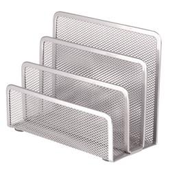 Kuvertställ 3-Fack Metall Silver