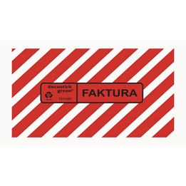Packsedelskuvert C2 Plast Med Tryck Innehåller Faktura 1000st/fp