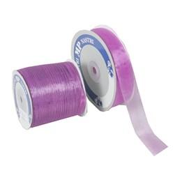 Organzaband 25mm Violett 50m/rl