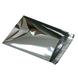 Foliepåse 250x380+40mm Silver 100st/fp