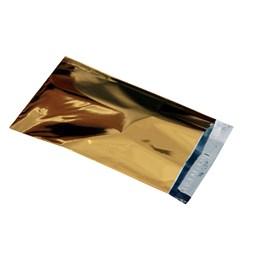 Foliepåse 250x380+40mm Guld 100st/fp