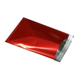 Foliepåse 250x380+40mm Röd 100st/fp
