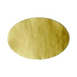 Etikett Oval 45x30mm Matt Guld 1000/rl