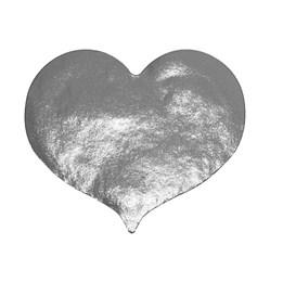 Etikett Hjärta 28mm Silver 1000st/rl