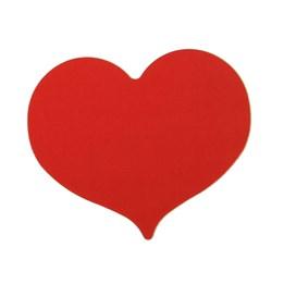 Etikett Hjärta 28mm Röd 1000st/rl