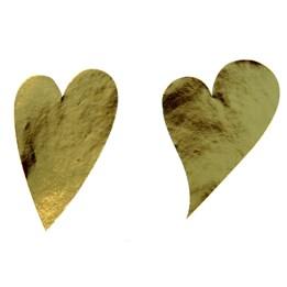 Etikett Hjärta Oval 49mm Guld 1000st/rl