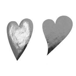 Etikett Hjärta Oval 49mm Silver 1000st/rl