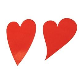 Etikett Hjärta Oval 49mm Röd 1000st/rl