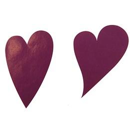 Etikett Hjärta Oval 49mm Lila 1000st/rl