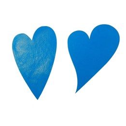 Etikett Hjärta Oval 49mm Aqua 1000st/rl