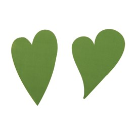 Etikett Hjärta Oval 49mm Oliv 1000st/rl