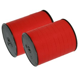 Polyband Matt 19mm Röd 125m/rl