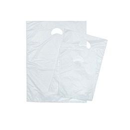 Bärkasse Plast HDPE 800/300x850mm Vit 100st/fp Stansat Handtag