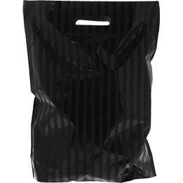 Bärkasse Plast LD 360x450/50 Svart stripe