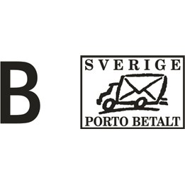 Stämpel Greenl 20/L B-Porto Betalt Svart