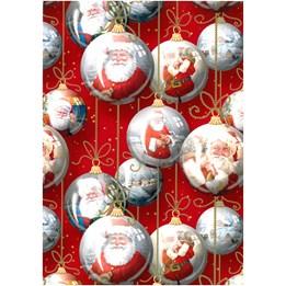 Julpapper 100cm Santa