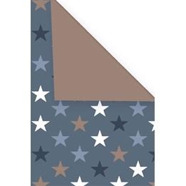 Presentpapper 57cm stars Dubbelsidig