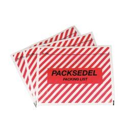 Packsedelskuvert C6 Plast Med Zebra Tryck 1000st/fp