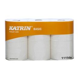 Toalettpapper Katrin Basic 640 1-Lager Oblekt